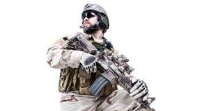 Gebaarde speciale oorlogvoeringsexploitant Stock Afbeeldingen