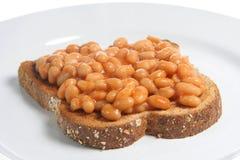 Gebackene Bohnen auf Toast Stockbild