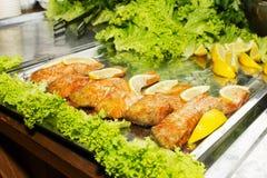 Gebackene Fischfilets Lizenzfreie Stockfotos