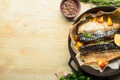 Gebackene Fischmakrele Lizenzfreie Stockbilder