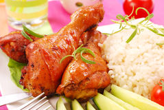 Gebackene Hühnerbeine Lizenzfreie Stockbilder
