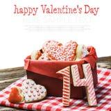 gebackene Herzen für Valentinstag Stockbilder