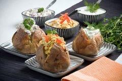 Gebackene Kartoffel Stockfotos