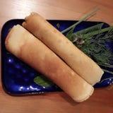 Gebackene salzige Käse Blintzes Stockfotografie