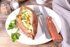 Gebackene süße Kartoffel Stockfoto