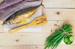 Gebackene Seefischmakrele stockbild