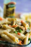 Gebackene Teigwaren mit Gemüse Lizenzfreies Stockfoto