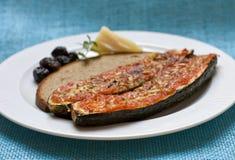 Gebackene Zucchini mit parmeggiano Lizenzfreies Stockbild