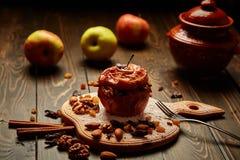 Gebackener Apfel Stockfoto