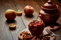 Gebackener Apfel Lizenzfreies Stockfoto