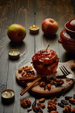 Gebackener Apfel Stockfotos
