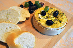 Gebackener Camembert Stockfoto