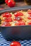 Gebackener Pudding von einer jungen Zucchini Lizenzfreie Stockbilder