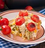 Gebackener Pudding von einer jungen Zucchini Lizenzfreies Stockfoto