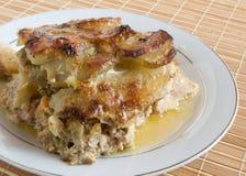 Gebackener Pudding von einer Kartoffel Stockbild