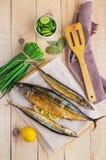 Gebackener Seefisch (Makrelenhecht, Makrele) stockbild