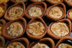 Gebackener Spinat mit Käse Lizenzfreie Stockfotografie