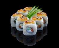 Gebackener Sushi-Satz Lizenzfreie Stockbilder