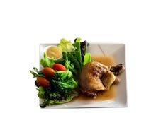 Gebackenes Geflügelsalat-Isolat Stockfoto
