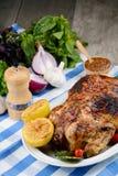 Gebackenes geschmackvolles heißes Huhn Lizenzfreie Stockfotografie