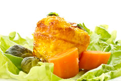 Gebackenes Omelett Lizenzfreie Stockfotos