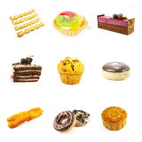 Gebakjes en Cakes Stock Afbeelding