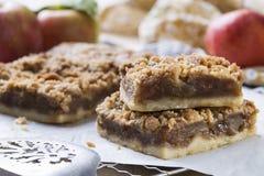 Gebakken Apple-Bars met appelen Stock Fotografie