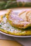 Gebakken brood met groente Royalty-vrije Stock Afbeeldingen