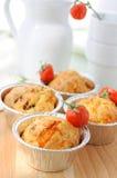 Gebakken enkel eigengemaakte muffins Stock Afbeeldingen