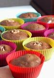Gebakken enkel muffins Stock Afbeelding