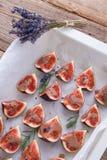 Gebakken fig. met karamel Royalty-vrije Stock Fotografie