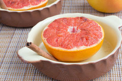 Gebakken grapefruit Stock Foto
