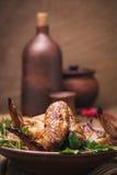 Gebakken kippenvleugels in de oven Royalty-vrije Stock Fotografie