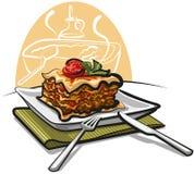 Gebakken lasagna's vector illustratie