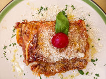 Gebakken lasagna's Italië Stock Afbeeldingen