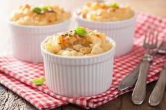 Gebakken macaroni met kaas stock fotografie