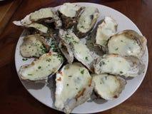 Gebakken oesters Stock Afbeelding