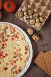 Gebakken omelet Stock Afbeelding