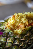 Gebakken rijst met ananas Stock Foto's