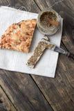 Gebakken traditioneel brood Stock Foto