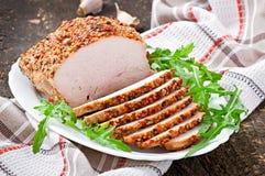 Gebakken varkensvlees Stock Foto's