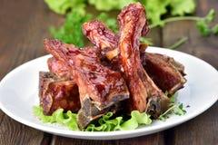 Gebakken varkensvleesribben Royalty-vrije Stock Fotografie