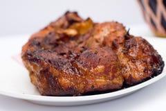 Gebakken varkensvleesvlees. Stock Afbeelding