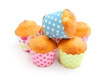 Gebakken vers cupcakes Royalty-vrije Stock Foto's