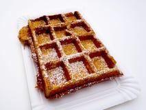 gebakken wafel met suikerbakkerij Royalty-vrije Stock Afbeelding