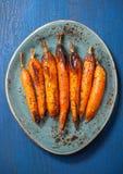 Gebakken wortelen Stock Foto's