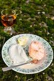 Gebakken Zalm met Fijngestampte Aardappels royalty-vrije stock fotografie
