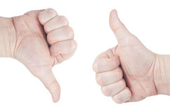 Gebaren van handen Geïsoleerd op witte achtergrond, liping weg Ð ¡ Stock Foto's