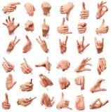 Gebaren van handen. Liefde van mensen Royalty-vrije Stock Foto