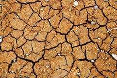 Gebarsten aarde. Royalty-vrije Stock Foto
